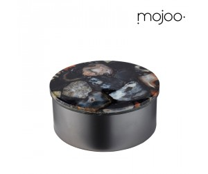 Mojoo Agate-Box rund medium black
