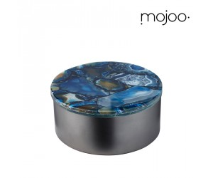 Mojoo Agate-Box rund medium blue
