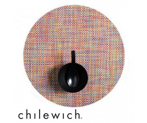 Chilewich Set Rund Basketweave crayon
