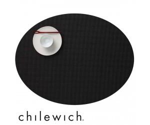 Chilewich Set Oval Mini Basketweave schwarz