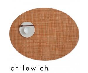 Chilewich Set Oval Mini Basketweave clementine