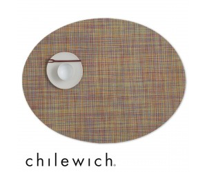 Chilewich Set Oval Mini Basketweave confetti