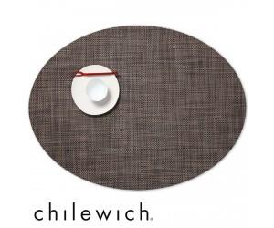 Chilewich Set Oval Mini Basketweave dunkel walnuss