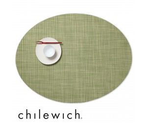 Chilewich Set Oval Mini Basketweave dill