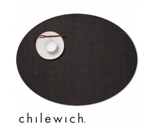 Chilewich Set Oval Mini Basketweave espresso