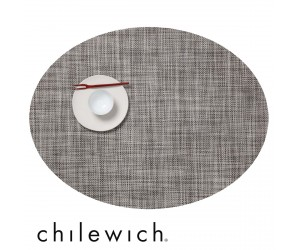 Chilewich Set Oval Mini Basketweave gravel