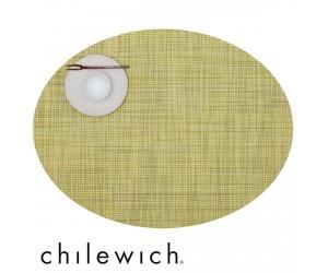 Chilewich Set Oval Mini Basketweave lemon