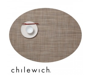 Chilewich Set Oval Mini Basketweave linen