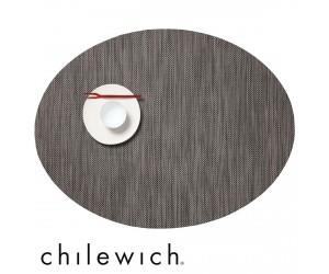 Chilewich Set Oval Mini Basketweave light grey