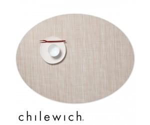 Chilewich Set Oval Mini Basketweave parchment