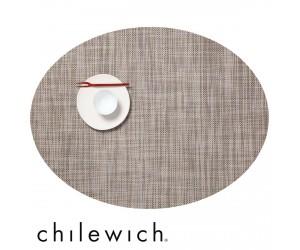 Chilewich Set Oval Mini Basketweave soapstone