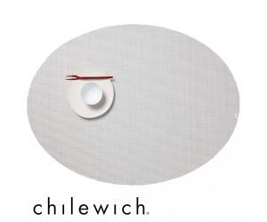 Chilewich Set Oval Mini Basketweave  weiß