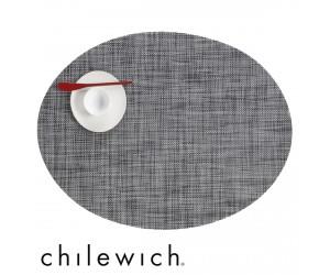 Chilewich Set Oval Mini Basketweave  schwarz/weiß