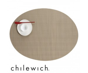 Chilewich Set Oval Mini Basketweave new gold