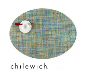 Chilewich Set Oval Mini Basketweave garden