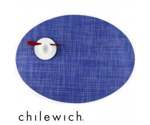 Chilewich Set Oval Mini Basketweave blueberry