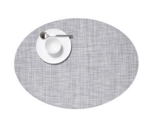 Chilewich Tischset Mini Basketweave oval hellgrau -034 (36x49 cm)
