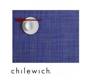 Chilewich Set Rechteckig Mini Basketweave blueberry