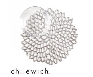Chilewich Untersetzer Dahlia silber (6er Set)