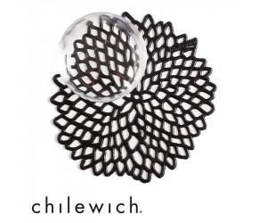 Chilewich Glasuntersetzer Dahlia schwarz (6er Set)
