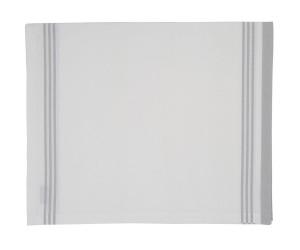 Lexington gestreifte Tischdecke Hotel Striped Tablecloth weiß/grau (150 x 250 cm)