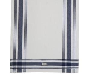 Lexington gestreiftes Küchentuch Hotel Framed Kitchen Towel weiß/blau (50 x 70 cm)