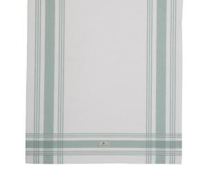 Lexington gestreiftes Küchentuch Hotel Framed Kitchen Towel weiß/grün (50 x 70 cm)