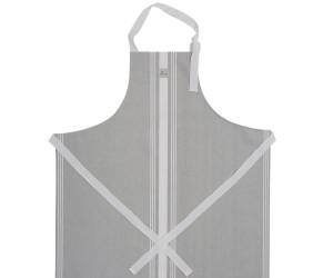 Lexington gestreifte Kochschürze Hotel Apron High grau/weiß (80 x 105 cm)