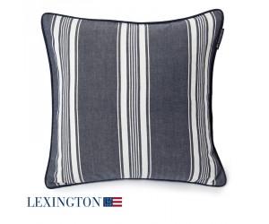 Lexington Dekokissenbezug Ticking Striped dunkelblau