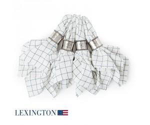 Lexington Serviette Checked weiß/blau