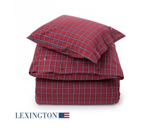 Lexington Bettwäsche Poplin Checked multi red