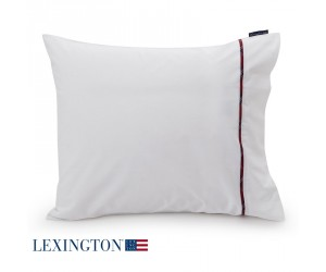 Lexington Kissenbezug  Sateen Piping Checked white/ multi red (40 x 80 cm)