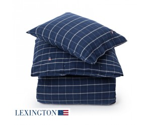 Lexington Bettwäsche Flannel Checked blue check