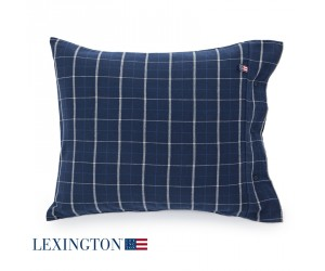 Lexington KIssenbezug Flannel Checked blue check (40 x 80 cm)