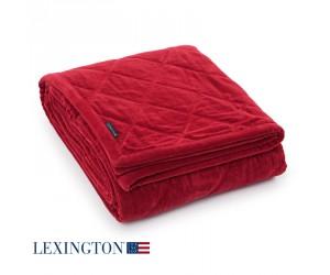 Lexington Bettüberwurf Quilt Velvet red