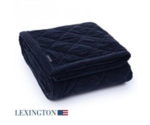 Lexington Bettüberwurf Quilt Velvet blue