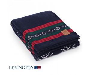 Lexington Decke Knitted Holiday blue multi