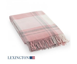 Lexington Decke Wool Classic Checked pink/gray