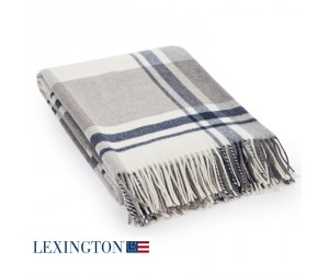Lexington Decke Wool Classic Checked beige/gray