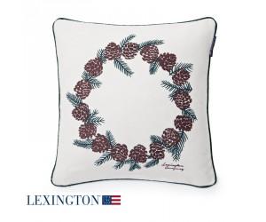 Lexington Dekokissen Pinecone Sham white