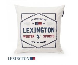 Lexington Dekokissen Winter Sport Sham white