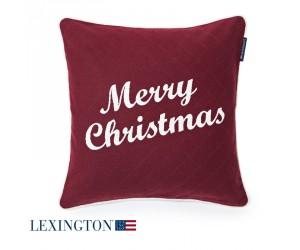 Lexington Dekokissen Merry Christmas Sham red