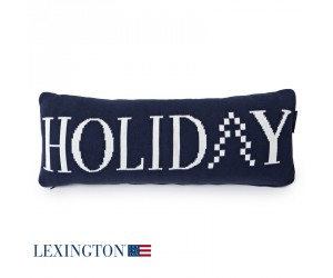 Lexington Dekokissen Knitted Holiday Sham blue