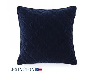 Lexington Dekokissen Quilt Velvet Sham blue