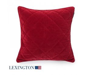 Lexington Dekokissen Quilt Velvet Sham red