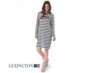 Lexington Nachthemd Rosy in grau gestreift