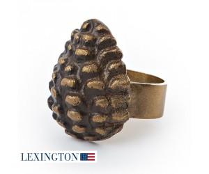 Lexington Serviettenring Pine Cone antique gold