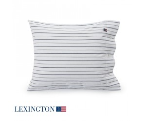 Lexington Bettwäsche Pin Point Striped in weiß-blau