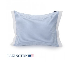 Lexington Bettwäsche Poplin Striped in blau-weiß
