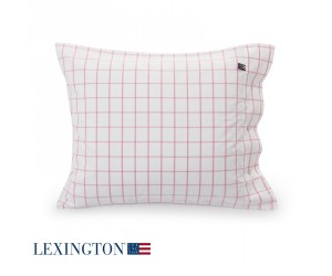 Lexington Bettwäsche Pin Point Shaker Check in rosa-weiß